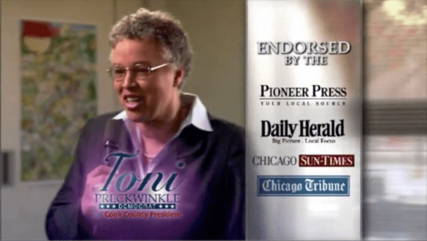 Cook County Presiden Toni Preckwinkle